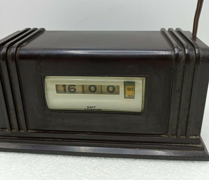 Vintage GMT tymeter numechron working flip clock.
