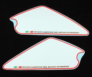 Ducati Monster 696 796 1100 EVO Number fields Set white/red