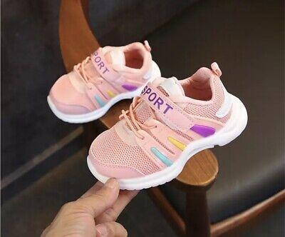 Mädchen Jungen Turnschuhe Sportschuhe Kinder Sneakers Kinderschuhe Rosa Gr 25