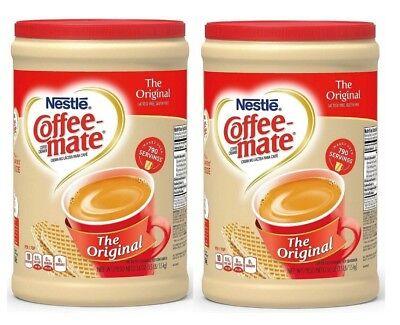 2 Packs, Nestle Coffee-mate Powder Original Non-Dairy Creamer Canister 56 -
