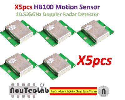 5pcs Hb100 Microwave Motion Sensor 10.525ghz Doppler Radar Detector