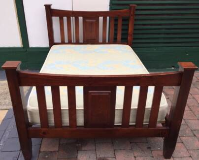 Excellent wooden frame double bed with mattress. Delivery can do