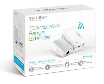 TP-Link TL-WPA4220KIT AV500 300Mbps Wi-Fi Powerline Range Extender Kit - New