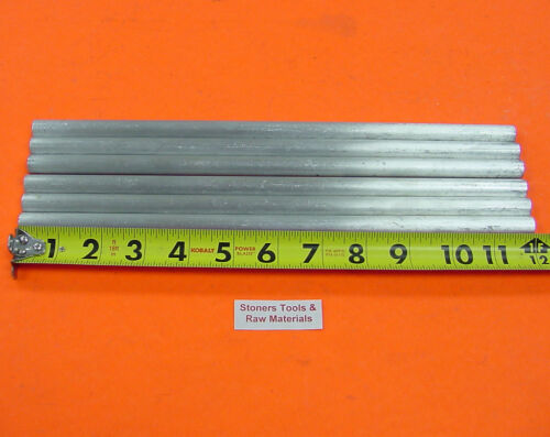 """6 pieces 1/2"""" ALUMINUM 6061 ROUND ROD 12"""" long Solid T6511 .50"""" Lathe Bar Stock"""
