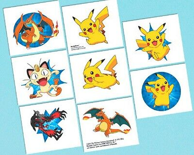 Pikachu and Friends Pokemon Birthday Party 16 Tattoos Favors Party - Pokemon Party Supplies