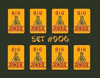 Mah Jongg Jong Mahjong Joker Stickers - Set #906 ** Free Shipping **