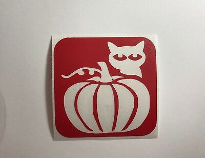 Pumpkin With Kitty Glitter Tattoo Stencil - 15 Stencil Pack (Pumpkin Tattoos)