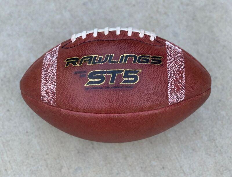 Rawlings ST5 Leather Football NAIA