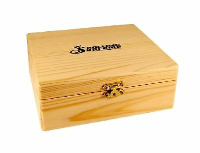 LARGE STORAGE BOX W TRAY WOOD STASH NEW ROLLING SUPREME STORE PAPERS & TIPS ()