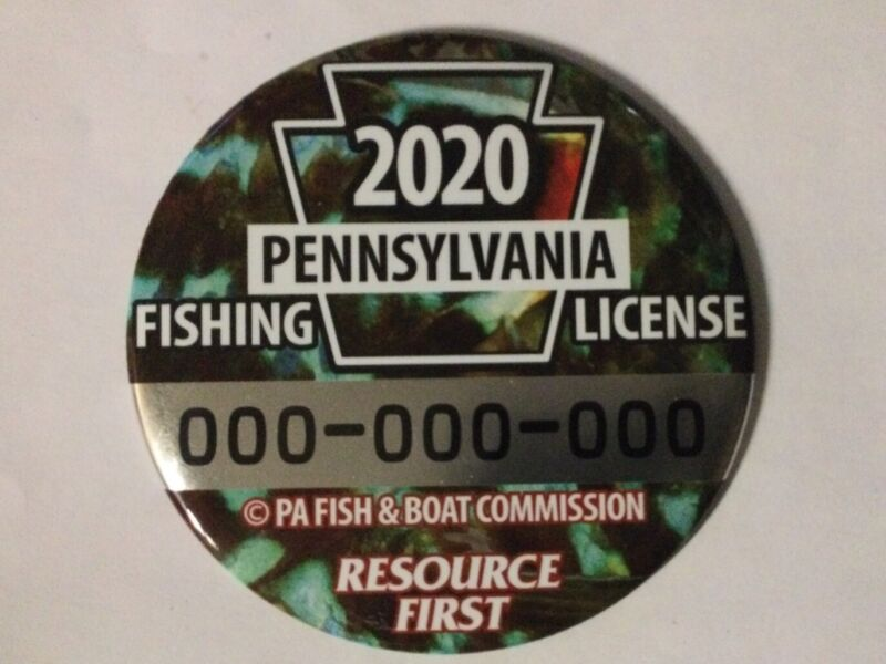 """2020 PA Fishing License Vendor Display- 6"""" Excellent"""