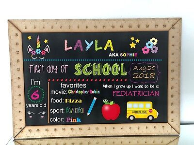 Chalkboard sign,Ruler Framed Blank Chalkboard,back to school chalkboard sign (Blank Chalkboard Signs)