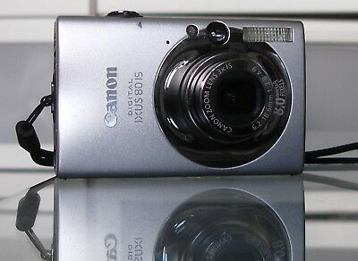 Canon IXUS 80 IS / PowerShot SD1100 8.0MP + 2GB + Etui - Silber  Canon Powershot Sd1100 Is