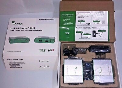 ICRON USB 3.0 Spectra 3022 Two-port USB 3.0 Multimode Fiber Extender ()