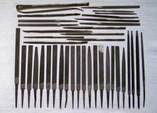 40 NICHOLSON-USA Grobet Swiss F.DICK Small Silversmith Jeweler Files & Rifflers
