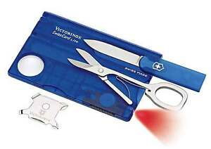 VICTORINOX Blue Swiss Card Lite w LED Torch RRP $79.95