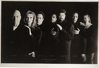 Star Trek The Next Generation 18x26 Black & White Cast Poster 1994