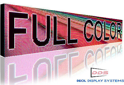 Semi-outdoor Full Color Programmable Led Sign Display 10mm Ultra Hd 12x101