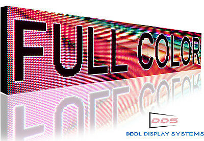 Wifi Outdoor 19 X 88 Bright Image Logo Text Graphic Programmable Open Led Sign