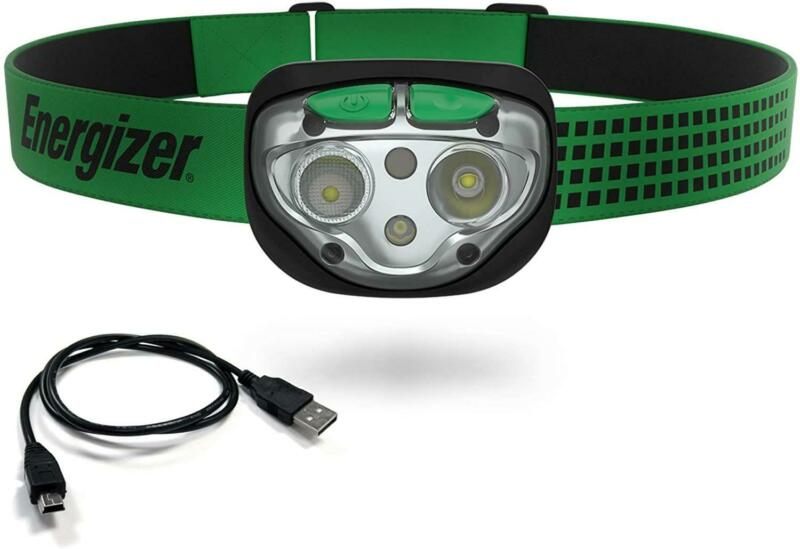New Energizer Vision Ultra Rechargeable 400 Lumens Headlamp, Green ENHDFRLP