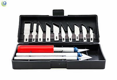 Dental Lab Gordon Knife Scalpel Razor Blade Precision Kit Cutter Set 13pc