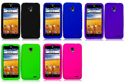 Silicone Protector Gel Soft Skin Cover Case for AT&T Z998 ZTE Mustang Z998 (Skin Phone Protector Cover)