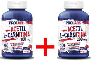 PROLABS-2-x-ACETIL-L-CARNITINA-200-Mg-200-200-400-Cpr-BRUCIA-GRASSI-ADDOME