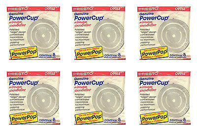 48 Pc Microwave Powerpop 09964 Powercup Popcorn Concentrator Presto 6 Packs Of 8