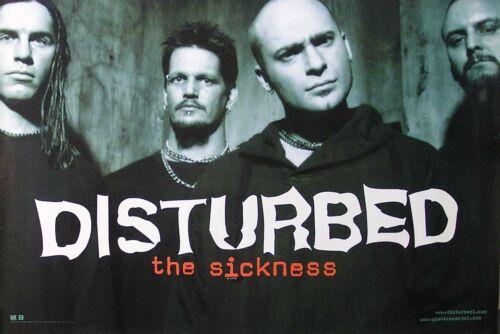 Disturbed 2000 The Sickness Original Large Promo Poster