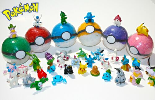 Pokemon Bath Bombs Pack of 6 Toy Inside Bath Bombs Toy Bath Bombs for Kids