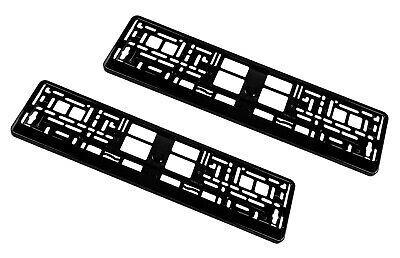2x Premium License Plate Holder Number High-Gloss Made IN Eu