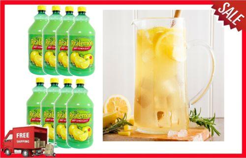 Case of 8 - 48 oz. BottlesReaLemon 100% Lemon Juice Bulk FAST SHIPPING New