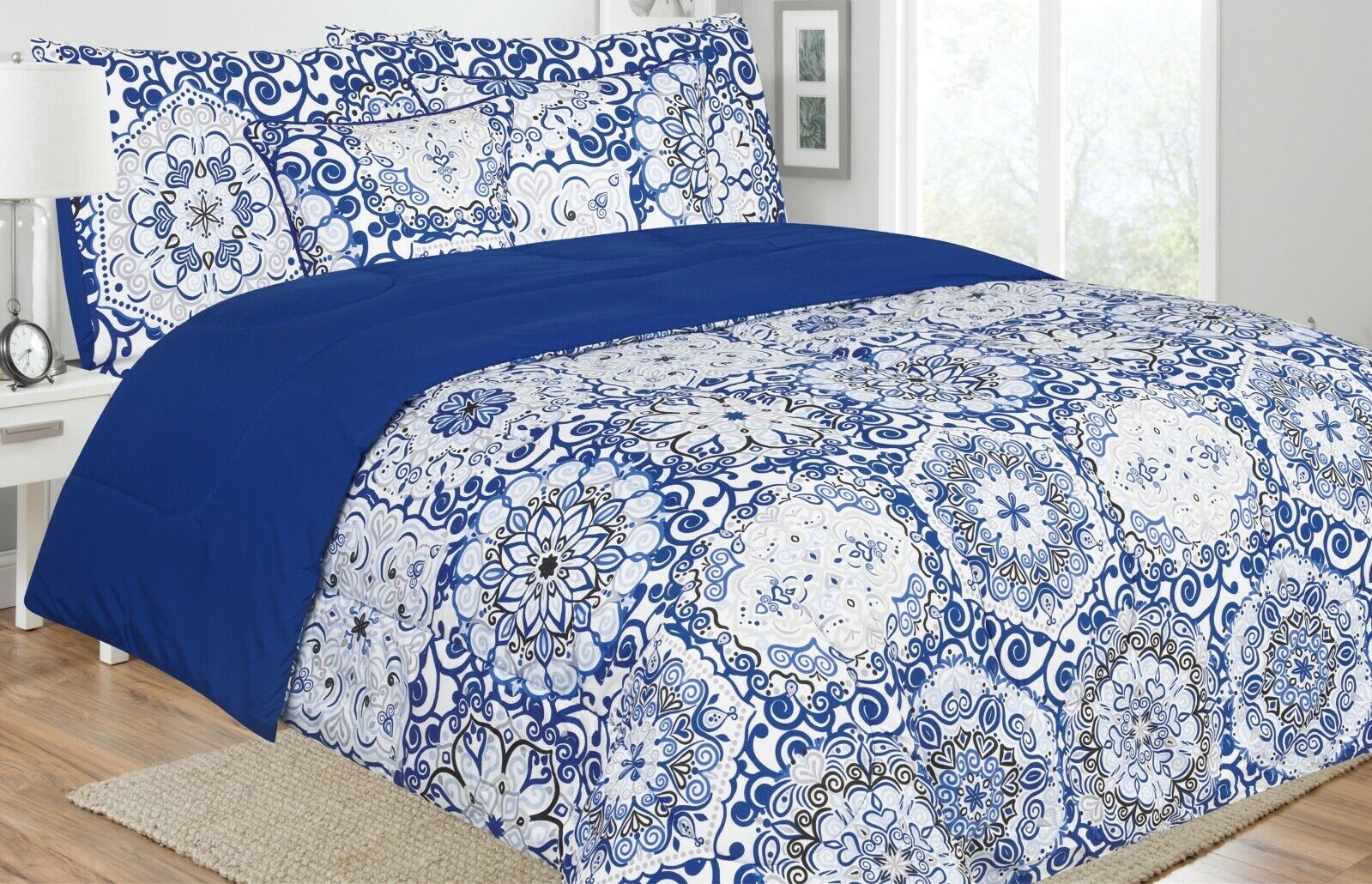 5 piece reversible comforter set ultra soft