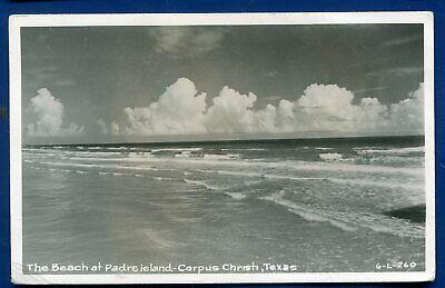 Beach at Padre Island Corpus Christi Texas tx real photo postcard (Padre Island Corpus Christi)