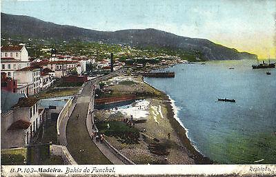 Madeira - Bahia do Funchal. - Registado., Ansichtskarte um 1910