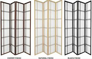 3-4-Panel-Shoji-Screen-Room-Dividers-Black-Cherry-Espresso-or-Natural-Color