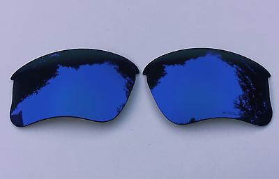 ENGRAVED POLARIZED SEA BLUE MIRRORED REPLACEMENT OAKLEY FLAK JACKET XLJ  LENSES