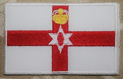 Northern Ireland. Flag Embroidered Iron / Sew On Northern ireland Patch