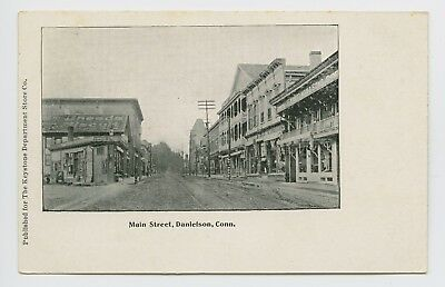 Danielson  Ct   Scarce Old 1905 Street Scene Pc   Main St Stores   Dirt Road   J