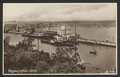 Paddle Steamers at Weymouth from Nothe - Vintage Photo Postcard