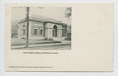 Danielson  Ct   Rare Old 1905 View   Public Library   Keystone   Postcard   L