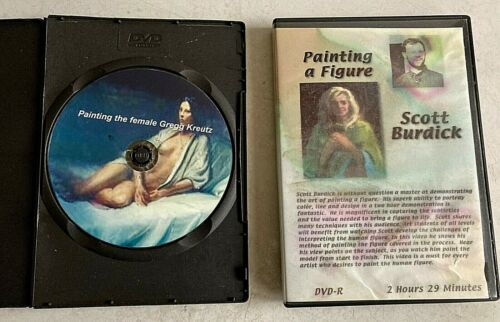 2 Art Instruction DVDs - Painting a Figure and Painting The Female