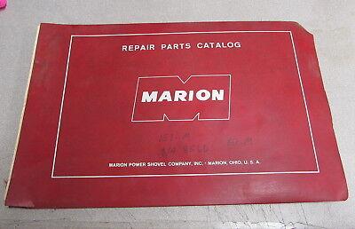 Marion Power Shovel Company 151-m Repair Parts Catalog Manual 8566