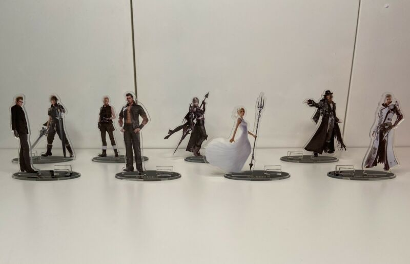 Final Fantasy XV Acrylic Stands Square Enix Cafe Exclusive
