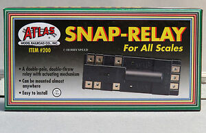 ATLAS HO SNAP RELAY track rail train electrical power switch turnout control 200