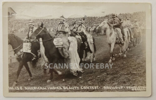 1930 RPPC Real Photo Postcard Photograph Native American Indian Pendleton - PC2