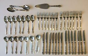VINTAGE 45 Piece SILVERPLATED Oneida Cutlery Set with Cake Server Nedlands Nedlands Area Preview