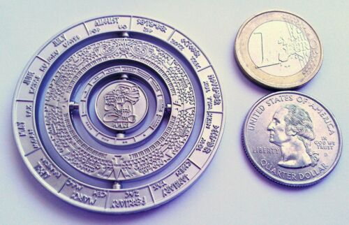 ☆ Mayan Calendar Spinner Geocoin Haab Tzolkinon Moves unactivated