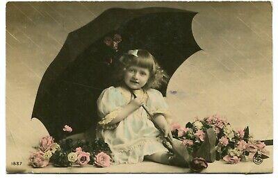 CPA - Carte Postale - Fantaisie - Petite Fille avec son Parapluie - 1907 (M7636)