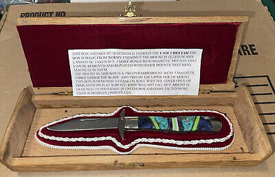 W R CASE & SONS Classic Turquoise Cheetah cheetah knife Custom Display Box
