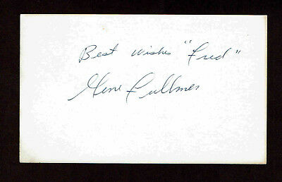 GENE FULLMER SIGNED 3X5 INDEX CARD AUTOGRAPH BOXER COA